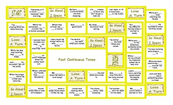 Past Continuous Tense Board Game