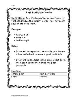 Past Participle Verb