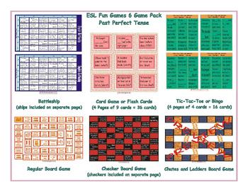 Past Perfect Tense 6 Board Game Bundle