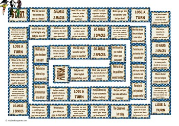Past Perfect Tense Questions Animated Board Game