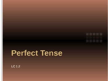 Past, Present, and Future Perfect Tense