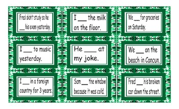 Past Simple Regular Verb Cards