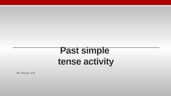 IR Past Simple Tense PPt lesson