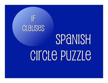 Spanish Past Subjunctive If Clause Circle Puzzle