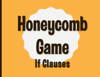 Spanish Past Subjunctive If Clause Honeycomb Partner Game