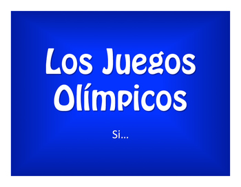 Spanish Past Subjunctive If Clause Olympics