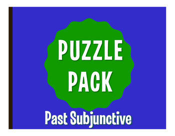 Spanish Past Subjunctive Puzzle Pack