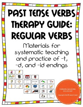 Past Tense Regular Verbs Therapy Guide - Great for Clinica