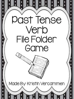Past Tense Verb File Folder Game