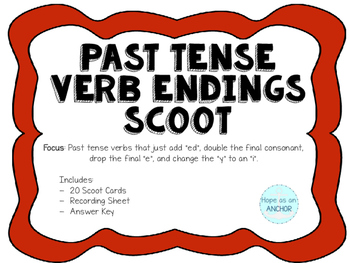 Past Tense Verb Scoot