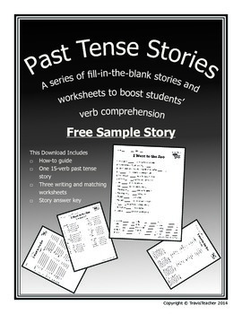 Past Tense Verb Story Freebie!