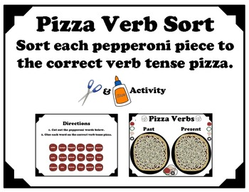 Past and Present Tense Verbs (Pizza Sort)