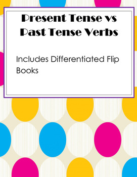 Past and Present Test Flip book / Flap Book