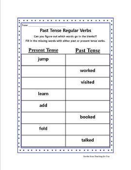 Past and Present Verbs Worksheet Bundle