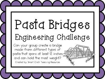 Pasta Bridges: Engineering Challenge Project ~ Great STEM