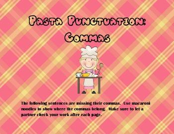 Pasta Punctuation: Commas