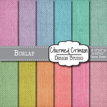 Pastel Burlap Digital Paper 1385