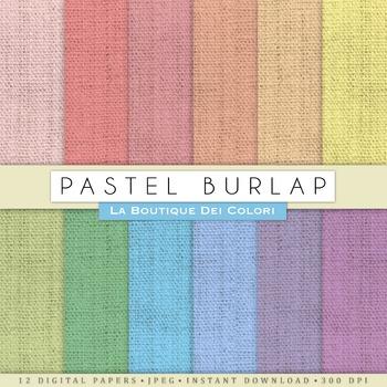 Pastel Burlap Digital Paper, scrapbook backgrounds