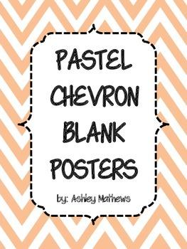 Pastel Chevron Border Posters