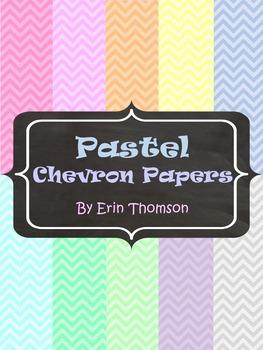 Pastel Chevron Papers