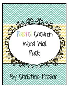 Word Wall Pack - {Pastel Chevron}