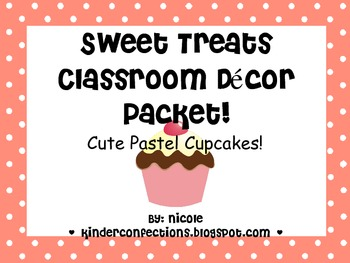 Pastel Cupcakes Classroom Decoration Pack