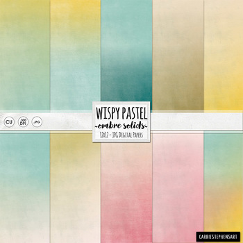 Pastel Digital Papers, Gradient Solid Card Stock, Easter T
