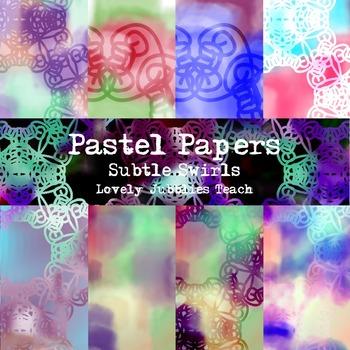 Pastel Digital Paper: Subtle Swirls