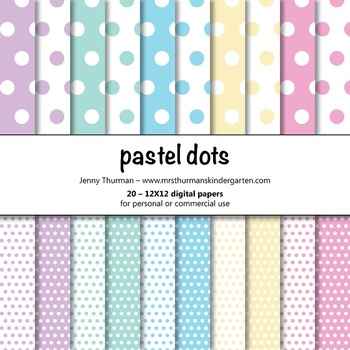 Pastel Dots Digital Papers