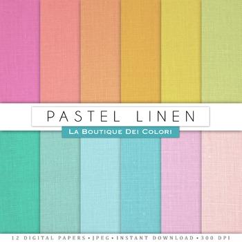 Pastel Linen Digital Paper, scrapbook backgrounds