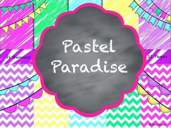 Pastel Paradise Digital Papers and Banners