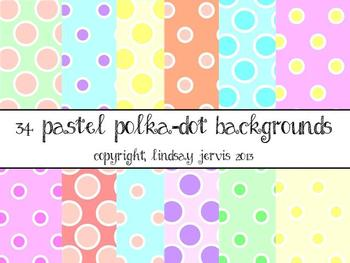Pastel Polka-Dot Backgrounds {Commercial/Personal}