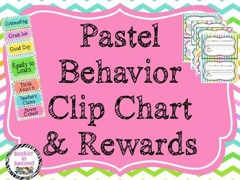 Pastel Themed Behavior Clip Chart & Awards