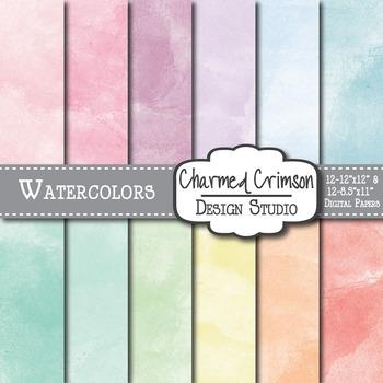 Pastel Watercolor Digital Paper 1184