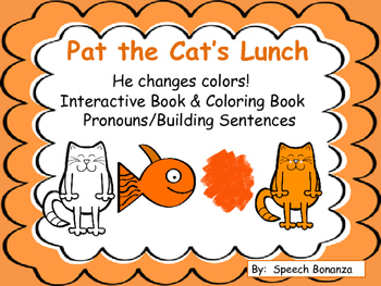 Pat the Cat's Lunch- Interactive Book & Coloring Book.  Pr
