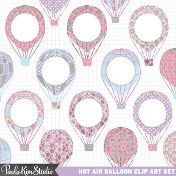 Clipart - Hot Air Balloons