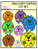Patchwork Puppies Clip Art
