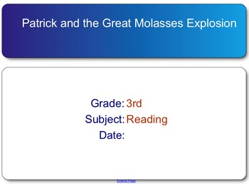 Patrick and the Great Molasses Explosion test