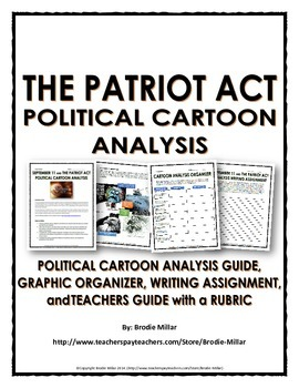 Patriot Act - Political Cartoon Analysis (Guide, Organizer