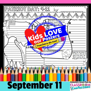 Patriot Day Activity Poster: September 11 Activity: 9/11