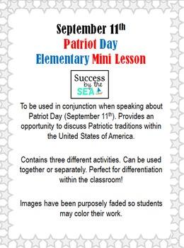 Patriot Day - 3 Elementary Activities