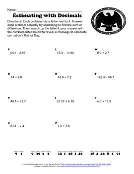 September 11th - Patriot Day Estimating Worksheet