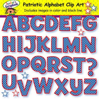 Patriotic Alphabet Clip Art