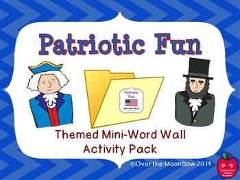 Patriotic Fun Mini-Word Wall Activity Pack