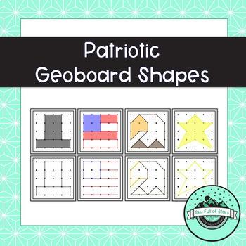 Patriotic Geoboard Shapes