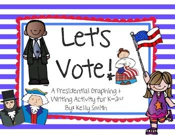 Let's Vote!! Patriotic Graphing & Writing FREEBIE!!!