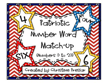 Patriotic Number Match-Up {0 to 20}