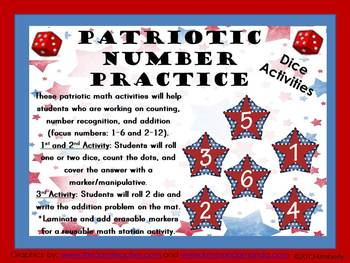 Patriotic Number Practice: Counting, Number Recognition, a