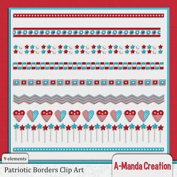 Patriotic Page Borders Clip Art