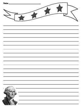 Patriotic - President - George Washington Lined Paper